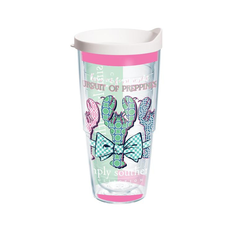 Tervis 24oz Simply Southern! Preppy Lobster!