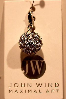 John Wind Disco Ball Pewter Color w/Rhinestones!