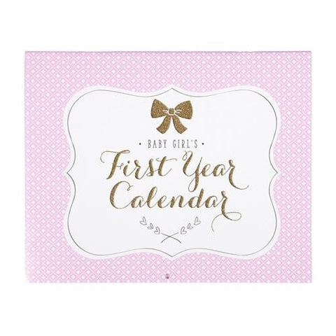 C.R. Gibson Sweet Sparkle Baby's First Year Calendar