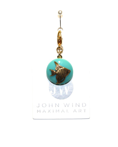 John Wind Charm: Angel Fish Gold! Aqua Mini Critter!