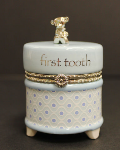Nat & Jules Blue First Tooth Keepsake Box
