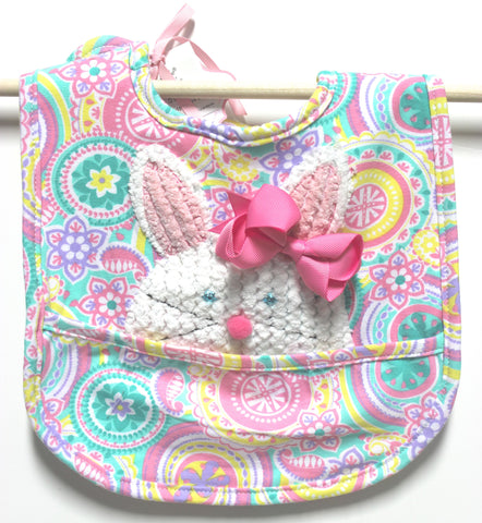 1226a5f08324 Mud Pie Bunny Pocket Bib and Bow!