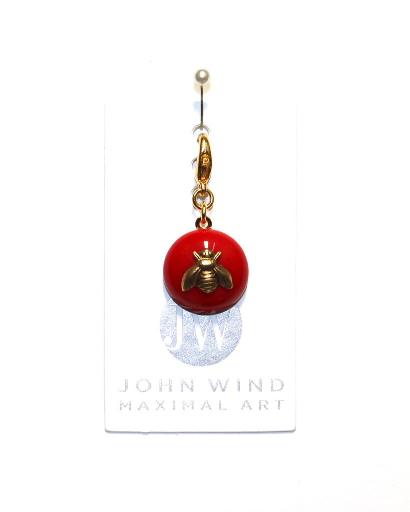 John Wind Charm: Bee Gold, Red Mini Critters!