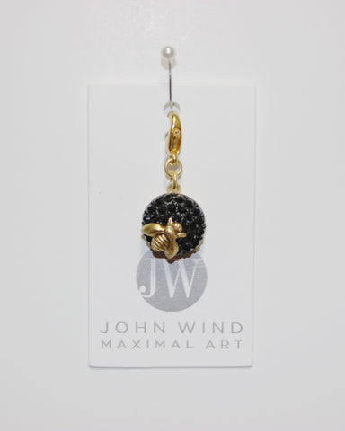 John Wind Charm: Gold Bee! Queen Bee Charms!