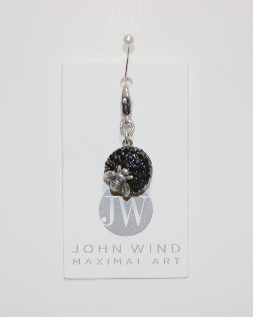 John Wind Charm: Silver Bee! Queen Bee Charms!