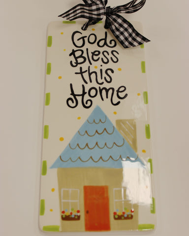 Coton Colors God Bless This Home Plaque
