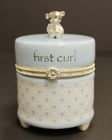 Nat & Jules Blue First Curl Keepsake Box
