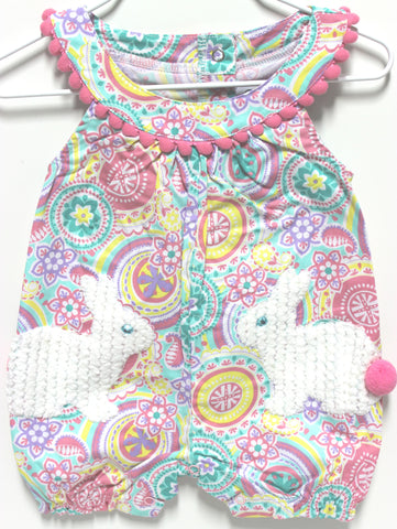 Mud Pie Bunny Pocket Romper!