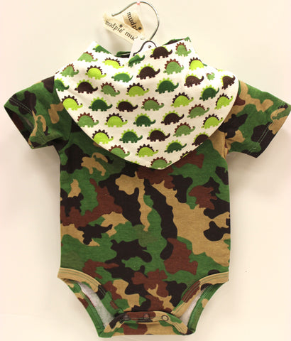 Mud Pie Camo Crawler & Dribble bib Set!