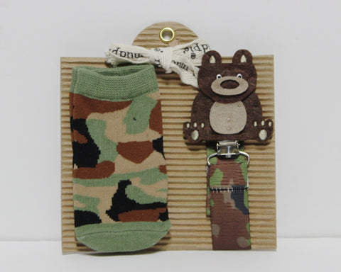 f514df85c229 Mud Pie Baby Boy Camo Socks and Pacy Clip!
