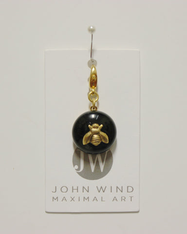 John Wind Charm: Bee Gold, Jet Black Mini Critter!