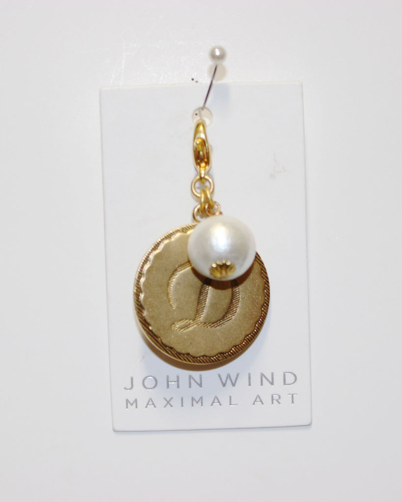 "John Wind: Sorority Gal and Pearl ""D"" Initial Gold Charm"