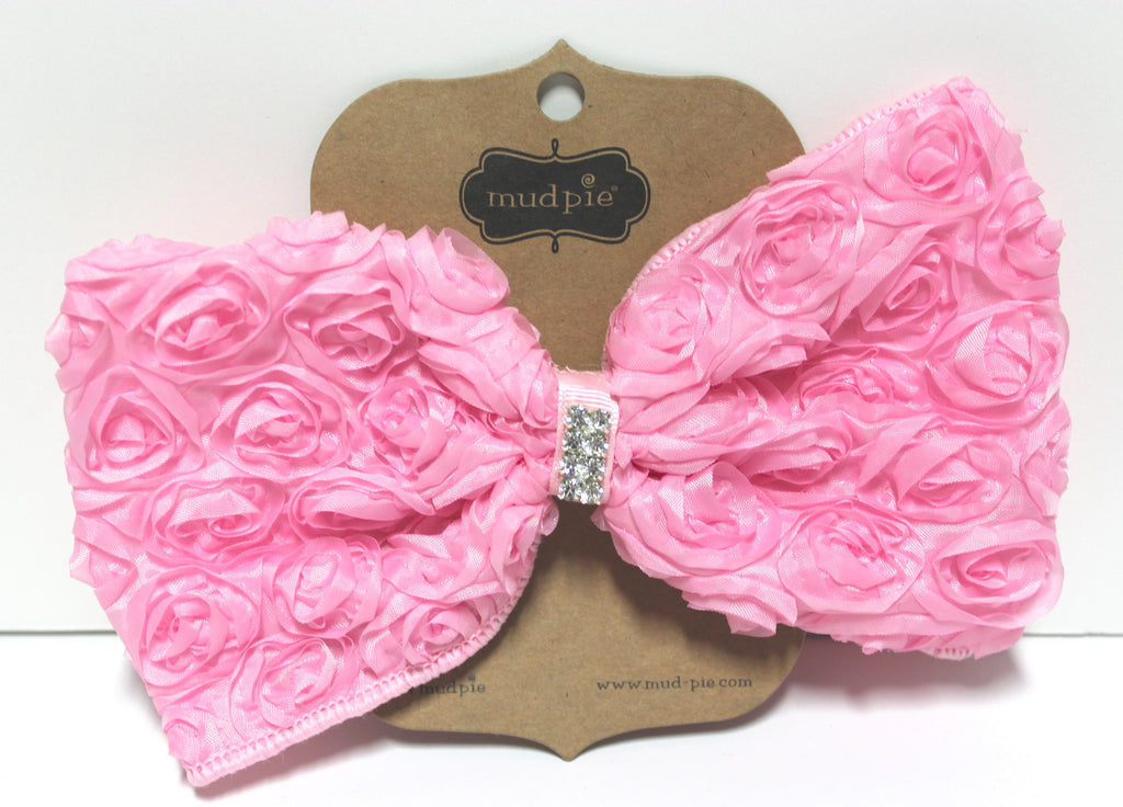Mud Pie Light Pink Oversized Rosette Bow