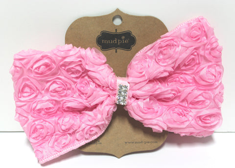 14a0a650164a Mud Pie Light Pink Oversized Rosette Bow