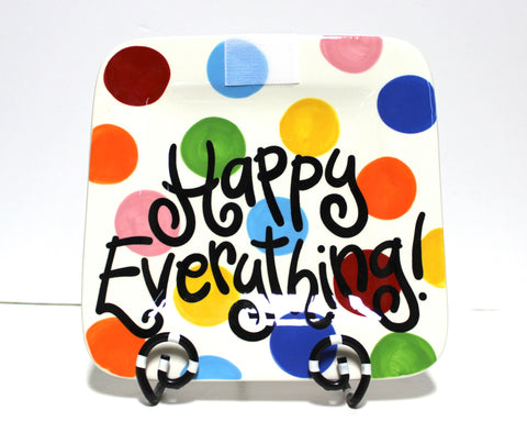 Coton Colors Bright Dot Happy Everything 9.25 Mini Platter!
