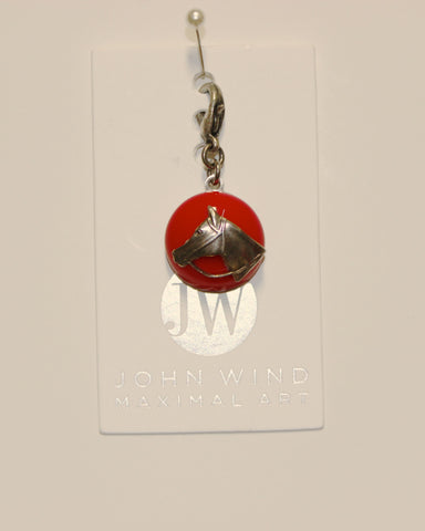 John Wind Charm: Horse Head, Red Mini Critters!