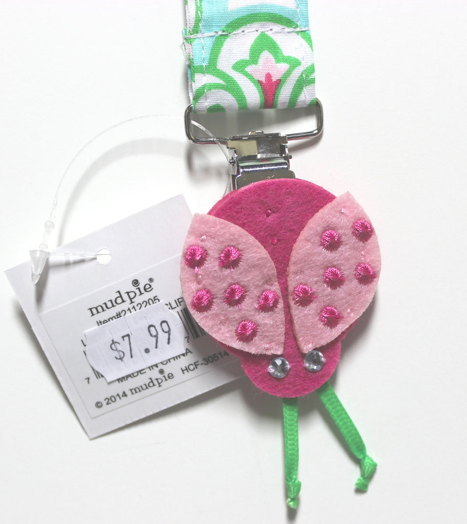 Mud Pie Lady Bug Pacy Clip!
