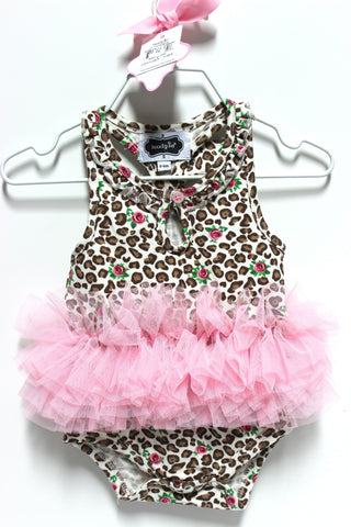 Mud Pie Leopard and Rosebud Tutu Crawler!