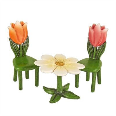 Fairies: Mini Tulip Table and Chairs / Set of 3