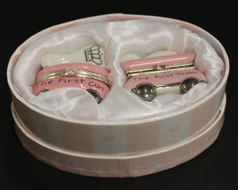 Mud Pie Princess Pink Tooth And Curl Keepsake Box