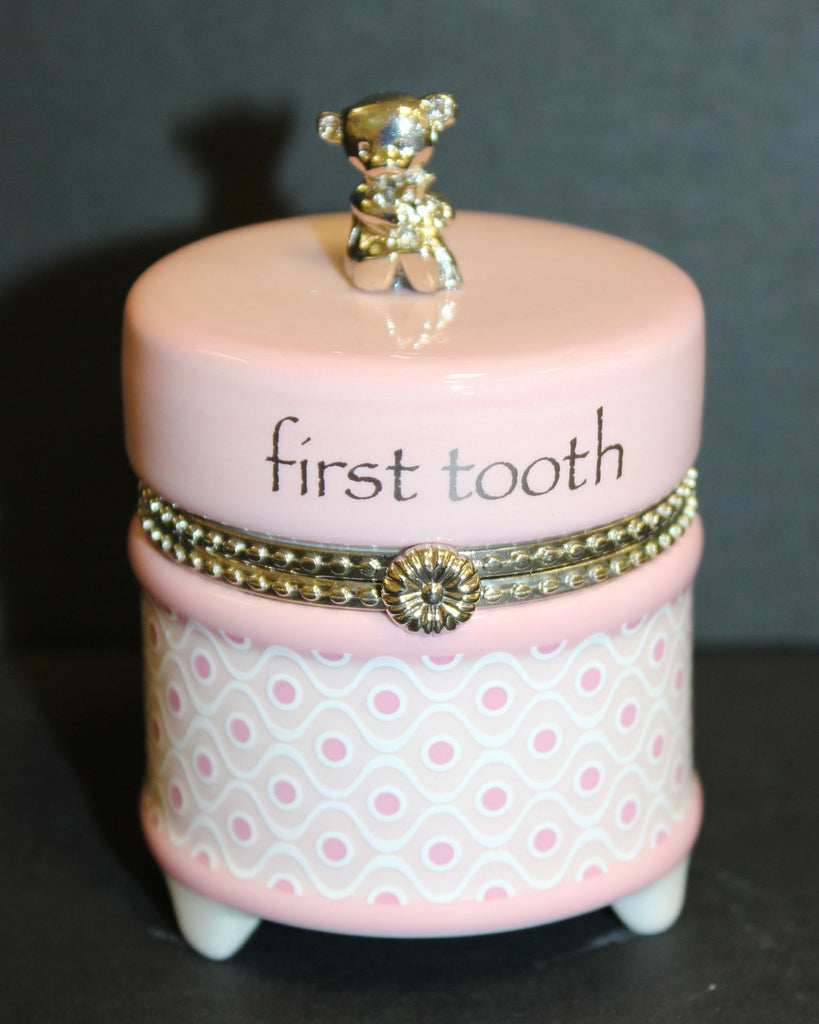 Nat & Jules Pink First Tooth Keepsake Box