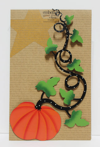 Pumpkin and Vine Decorative Magnet!