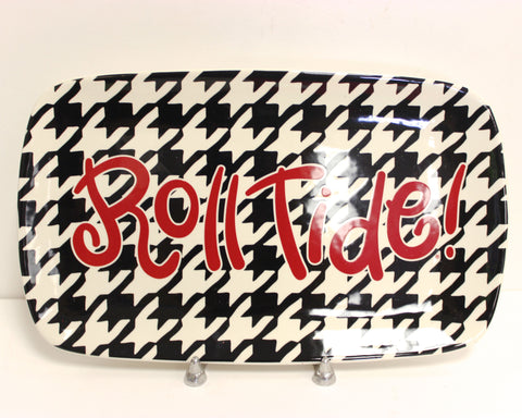 Coton Colors U of Alabama Roll Tide Houndstooth Platter!