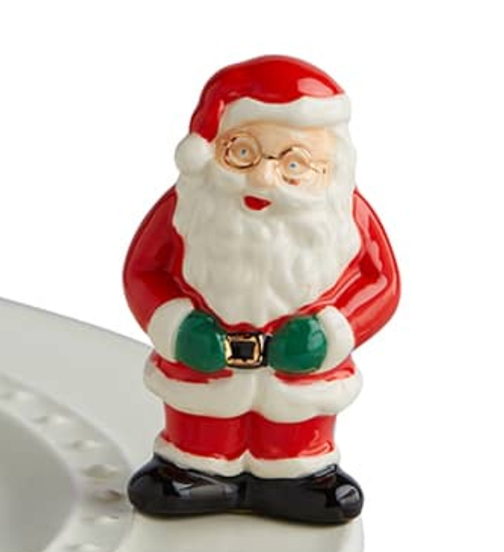 nora fleming mini: father Christmas
