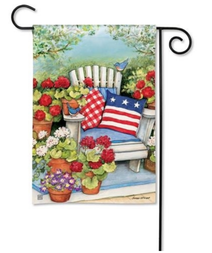 Garden Flag: Patriotic Pillows