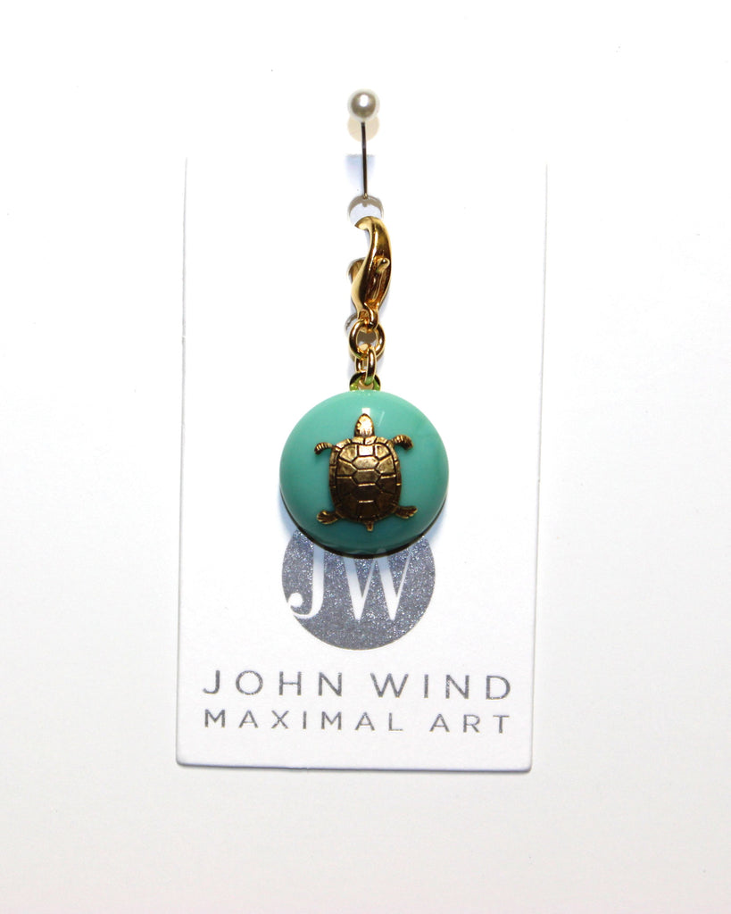 John Wind Charm: Sea Turtle! Aqua Mini Critter!