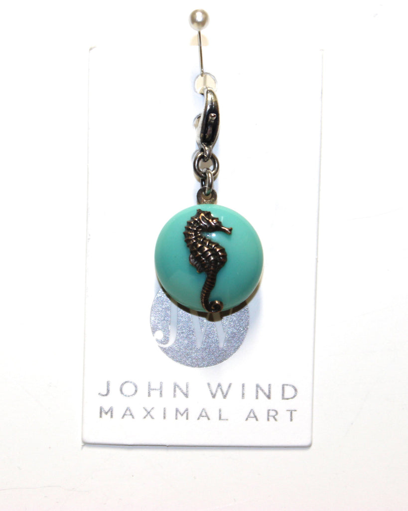 John Wind Charm: Sea Horse! Aqua Mini Critter!