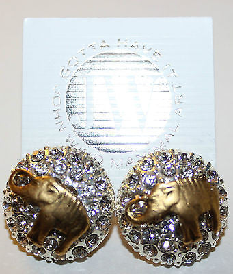 John Wind Maximal Art Rhinestone w/Elephant Earrings!!