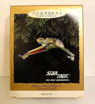 1994 Hallmark Keepsake Ornaments! Star Trek! Klingon Bird of Prey!
