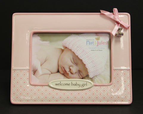 Nat & Jules Pink Welcome Baby Girl Frame