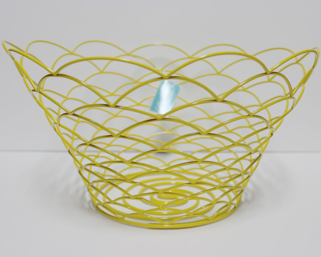 Coton Colors:  14 Shallow Wire Bread Basket Daffodil