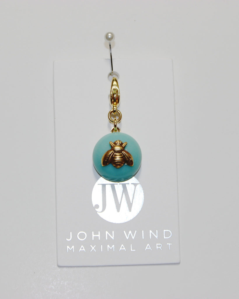 John Wind Charm: Bee Gold! Aqua Mini Critter!