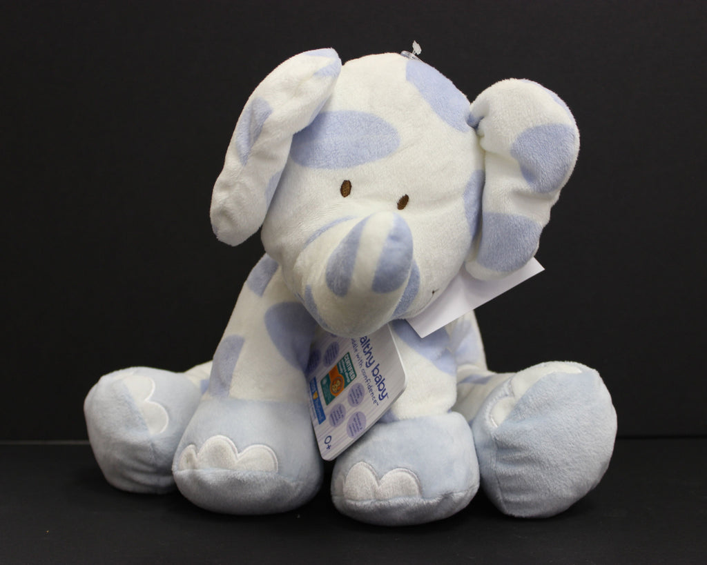 Healthy Baby Blue and White Elephant