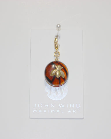 John Wind Charm: Bee Gold! Tortoise Mini Critter!