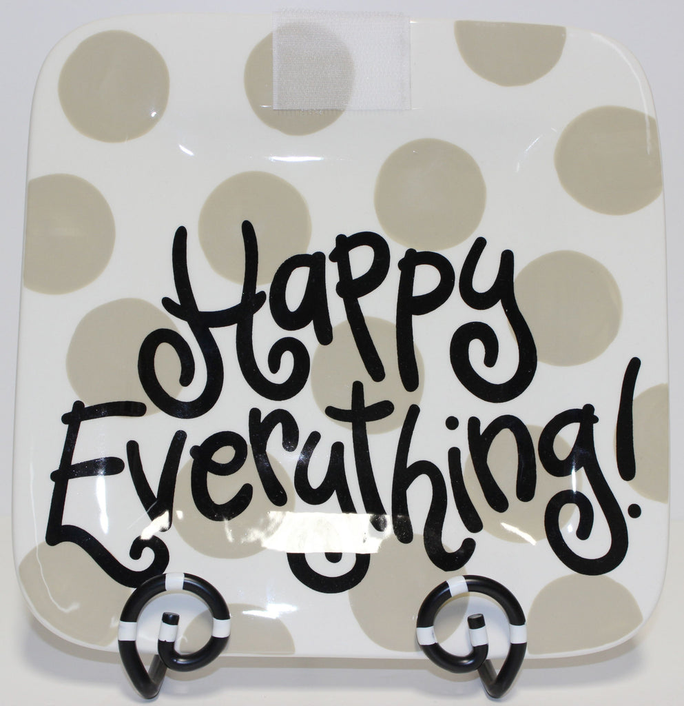 Coton Colors Neutral Dot Happy Everything 9.25 Mini Platter!