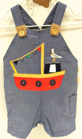 Mud Pie Tugboat Overall