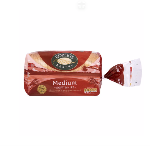 MEDIUM WHITE BREAD 800G ROBERTS