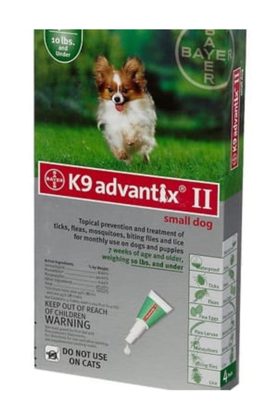 K9 ADVANTAGE 2 FLEA TREATMENT (10LBS AND UNDER)