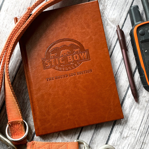 brown leather houndsman journal