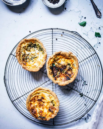 M.Individual Quiche - Ham hock and cheddar