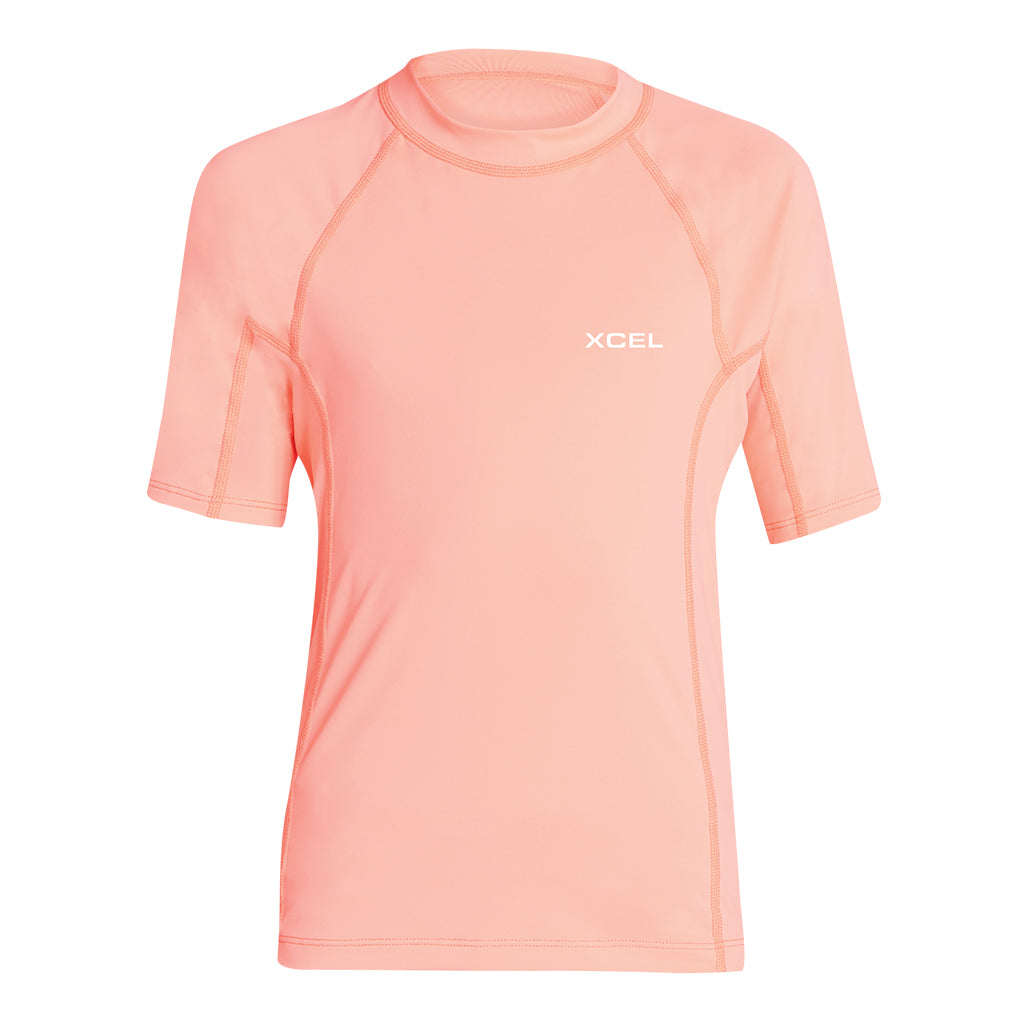 GIRLS PREMIUM STRETCH COLOR BLOCK S/S UV SP19