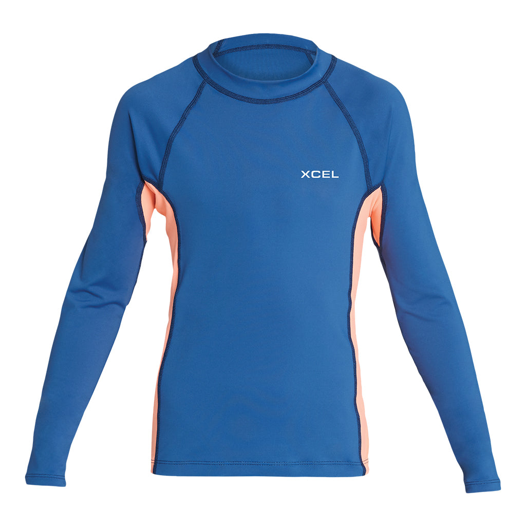GIRLS PREMIUM STRETCH COLOR BLOCK L/S UV SP19