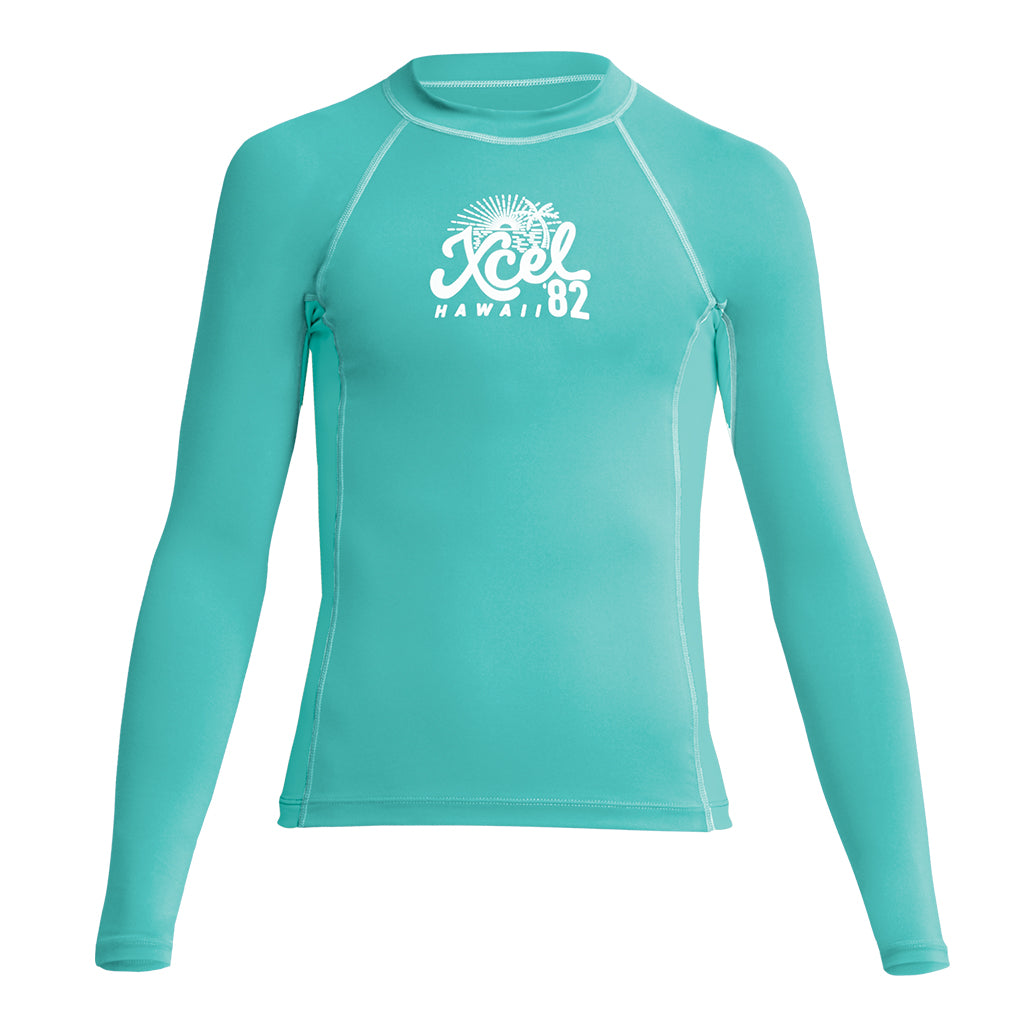 GIRLS PREMIUM STRETCH LONG SLEEVE PERFORMANCE FIT UV SP21