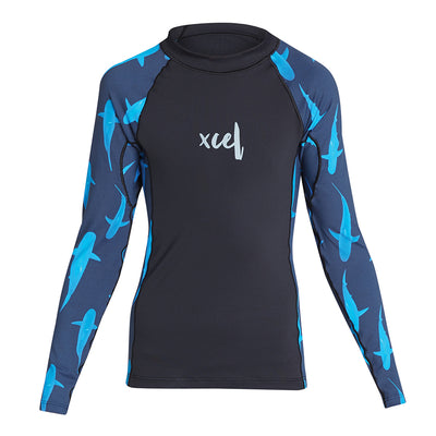 GIRLS WATER INSPIRED PREMIUM STRETCH LONG SLEEVE PERFORMANCE FIT UV SP21