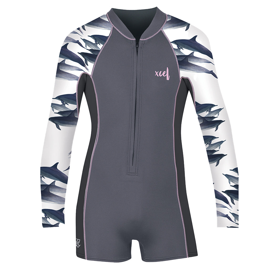 GIRLS WATER INSPIRED AXIS LONG SLEEVE FRONT ZIP 2/1MM SPRING WETSUIT SP21