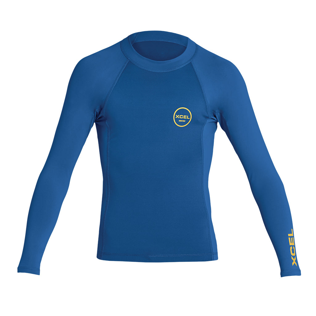 YOUTH PREMIUM STRETCH COLOR BLOCK LONG SLEEVE PERFORMANCE FIT UV SP20